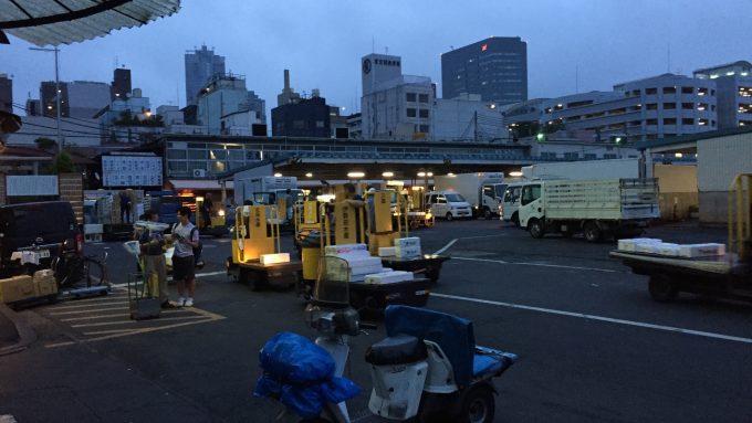 築地市場 フォトギャラリー 夜明け前